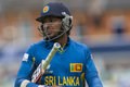 Icc champions trophy sri lanka and australia london england june s kumar sangakkara walks off after being dismissed during the Stock Photo
