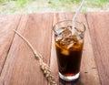 Ice americano drink thai style Stock Photos