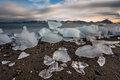 Ice on the arctic beach landscape spitsbergen svalbard Royalty Free Stock Images