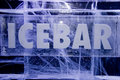 Ice Bar sign Stock Photography