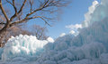 Ice barricade made of minnesota usa Royalty Free Stock Photos