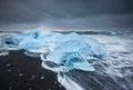 Ice beach at jokulsarlon, Iceland.
