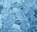 Ice blocks cubes frosty cyan cold background Stock Image