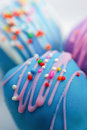 Ice Blue Colorful Chocolate Ball Stock Photo