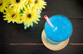 Ice blue drink Royalty Free Stock Photo