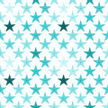 Ice blue stars seamless pattern Royalty Free Stock Photo