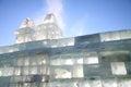Ice brick wall Royalty Free Stock Photo