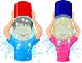 Ice bucket challenge Royalty Free Stock Photo