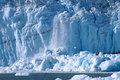 Ice Calving At Glacier Bay Royalty Free Stock Photos