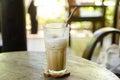 Ice cappuccino coffee
