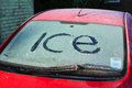 Ice on car windscreen. Stock Images