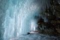 Ice cave on Baikal lake Royalty Free Stock Photo