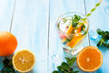 Ice citrus drink Royalty Free Stock Photo
