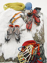 Ice Climbing Gear Royalty Free Stock Photos