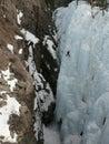 Ice climbing at Ouray Ice Park Royalty Free Stock Photo