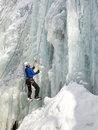 Ice Climbing in South Tyrol, Italy Royalty Free Stock Images