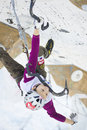 Ice Climbing World Championship 2011 Royalty Free Stock Photo
