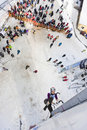 Ice Climbing World Championship 2011 Royalty Free Stock Photo