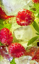 Ice cocktail with fruit Royalty Free Stock Photo