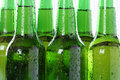 Ice cold beer in bottles beverage with alcohol Royalty Free Stock Photography