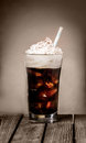 Ice cold drink with coffee flavour for cafe and restaurant concepts Stock Images