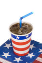 Ice cold July fourth soda Royalty Free Stock Photo
