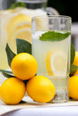 Ice Cold Lemonade With Mint Royalty Free Stock Image