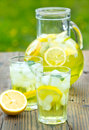 Ice cold lemonade on the table Royalty Free Stock Image