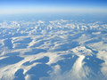 Ice cold world beyond the arctic circle aerial view of an icy landscape behind norway Royalty Free Stock Photography