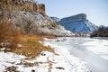 Ice on the Colorado River Stock Photos