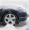 Ice Covered Car Royalty Free Stock Image
