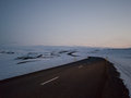 Ice covered mountains in north western island west iceland along route Royalty Free Stock Image