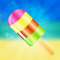 Ice cream background multicolor lolly on the abstract summer with rays Royalty Free Stock Image