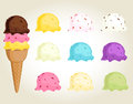 Ice cream balls collection Royalty Free Stock Photography