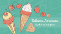 Ice cream banner Royalty Free Stock Photo