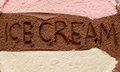 Ice cream banner neapolitan background Stock Photo