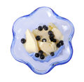 Ice cream with bilberry Royalty Free Stock Images