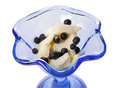 Ice cream with bilberry Stock Photos