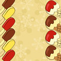 Ice cream border bon appetit Royalty Free Stock Images