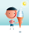 Ice Cream Boy Stock Photography