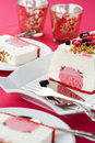 Ice cream cake with berries and nuts Royalty Free Stock Images