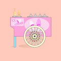 Ice cream cart abstract vector illustration Stock Images