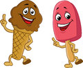 Ice cream cartoon character Royalty Free Stock Image