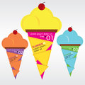 Ice cream colorful vector eps Stock Image