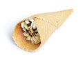 Ice cream cone isolated on white background Royalty Free Stock Photo