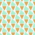 Ice cream cone seamless mint blue pattern background Royalty Free Stock Photo