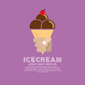 Ice cream cone vector illustration Royalty Free Stock Photo