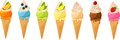 Ice cream cones Royalty Free Stock Photos