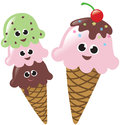 Ice Cream Cones Isolated Stock Photos