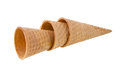Ice cream cones isolated on white background Royalty Free Stock Images